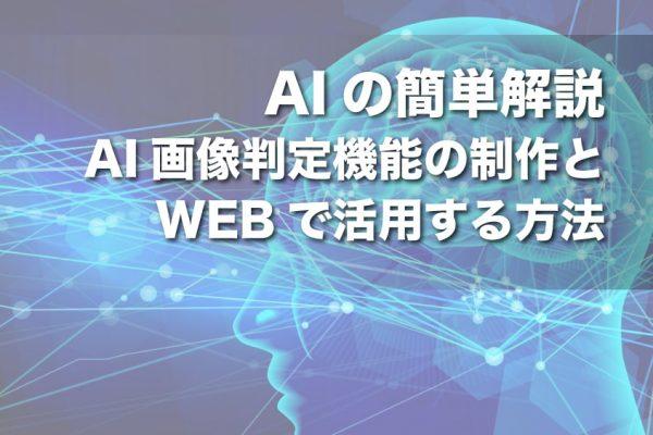 【AIの簡単解説】AI画像判定機能の制作とWEBで活用する方法